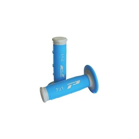 Poignées caoutchouc PRO-GRIP Gris/Bleu