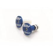 Embouts De Guidon Factory Bihr Bleu