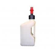 Bidon D'essence Tuff Jug 20L Blanc Translucide - Bouchon Remplissage Rapide
